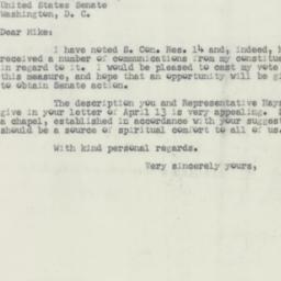 Letter : 1953 April 20