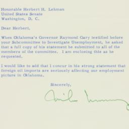 Letter : 1955 March 18