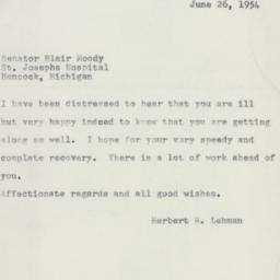 Letter : 1954 June 26