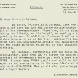 Letter : 1948 March 19