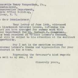 Letter : 1932 June 15