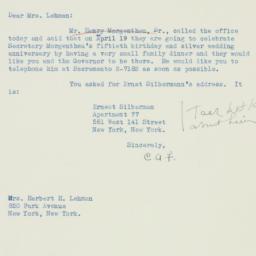 Letter : 1941 April 7