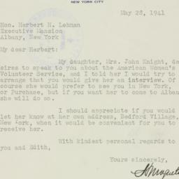 Letter : 1941 May 28