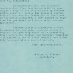 Letter : 1951 June 7