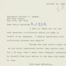 Letter : 1962 October 12
