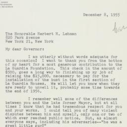 Letter : 1955 December 8