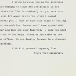 Letter : 1959 December 19