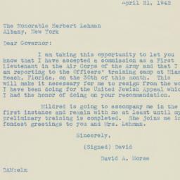 Letter : 1942 April 21