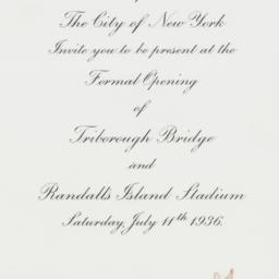 Invitation : 1936 July 11