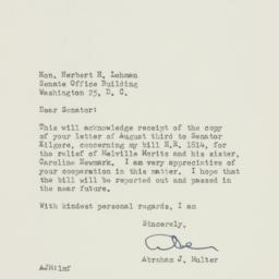 Letter : 1950 August 7