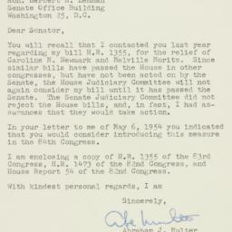 Letter : 1955 January 14