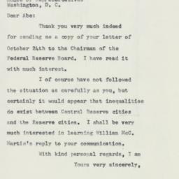 Letter : 1957 October 26