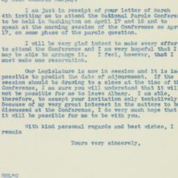 Letter : 1939 March 9