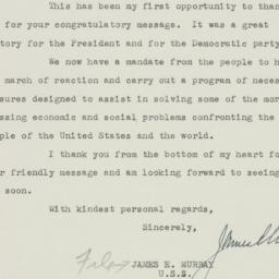 Letter: 1948 November 23