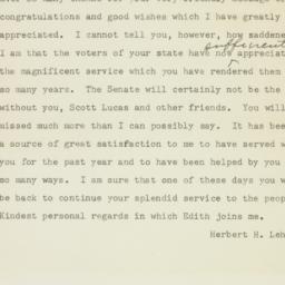 Telegram: 1950 November 9