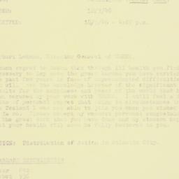 Telegram : 1946 March 18