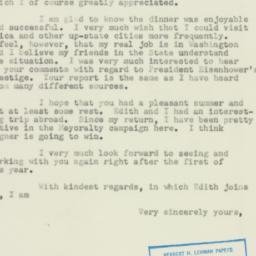 Letter: 1953 October 26