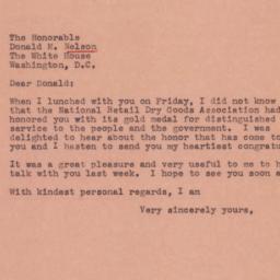 Letter : 1945 January 15