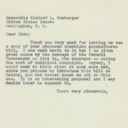 Letter: 1956 February 18