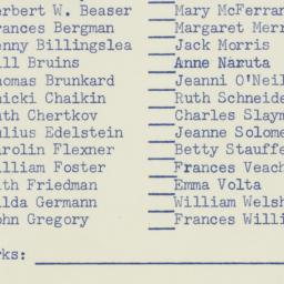 Memorandum: 1956 October 19