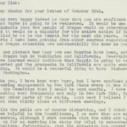 Letter: 1956 November 2