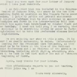 Letter: 1957 February 7