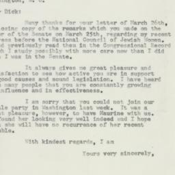 Letter: 1957 March 28