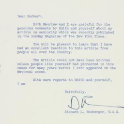 Letter: 1957 April 15