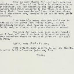 Letter: 1958 March 30