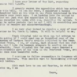 Letter: 1958 May 20