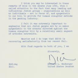 Letter: 1958 June 17