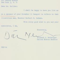 Letter: 1958 October 13