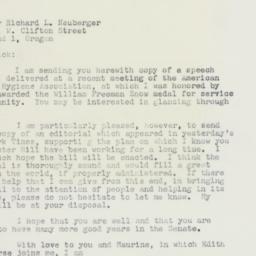 Letter: 1958 November 17