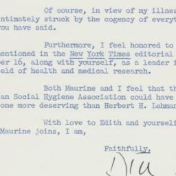 Letter: 1958 November 24