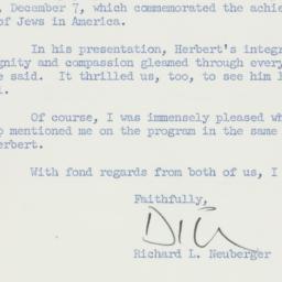 Letter: 1958 December 9