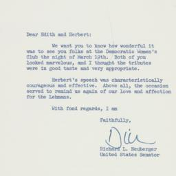 Letter: 1959 March 20
