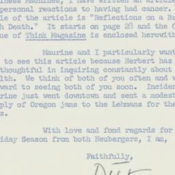 Letter: 1959 December 22