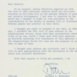 Letter: 1960 January 27