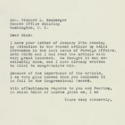 Letter: 1960 January 15