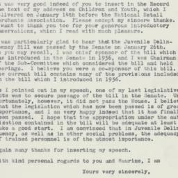 Letter: 1960 January 30