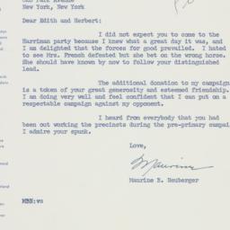 Letter: 1960 June 13