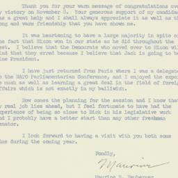 Letter: 1960 December 6
