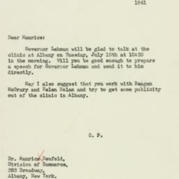 Letter : 1941 July 3