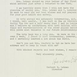 Letter : 1943 May 5