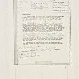 Letter : 1943 September 20