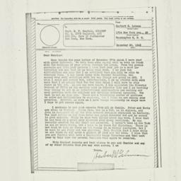 Letter: 1943 December 20