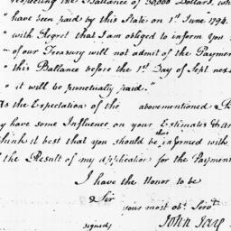 Document, 1798 January 13