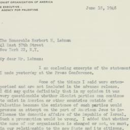 Letter: 1948 June 18