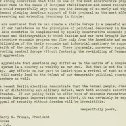 Letter : 1946 November 4