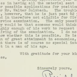 Letter : 1951 November 1